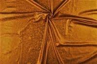 Luxury Elastic Snakeskin Foil Dance Fabric Material - BROWN